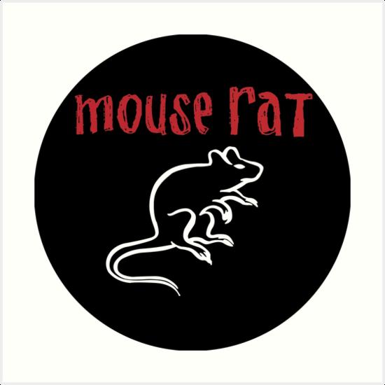 Quot Mouse Rat Logo Quot Art Print By Josiahfrench Redbubble