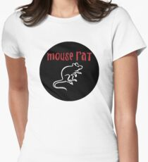 Mouse Rat Logo Womens Fitted T-Shirt