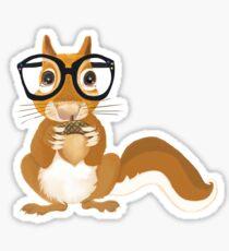 A bit of Squirrel Fun Sticker