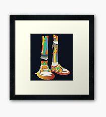 Rainbow Kicks Framed Print