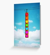Rainbow Traffic Light Greeting Card