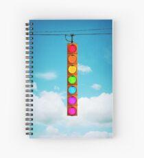 Rainbow Traffic Light Spiral Notebook