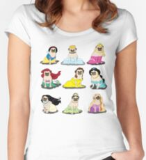 Pug Princesses Version 2 Women's Fitted Scoop T-Shirt