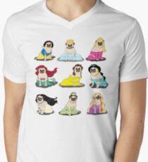 Pug Princesses Version 2 Men's V-Neck T-Shirt