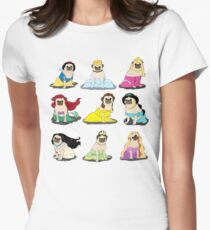 Pug Princesses Version 2 Women's Fitted T-Shirt