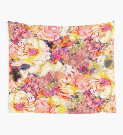 Yellow flowers Wall Tapestry