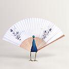 Peacock Fan by Kitty Bitty