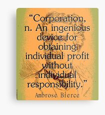 Corporation - Bierce Metal Print