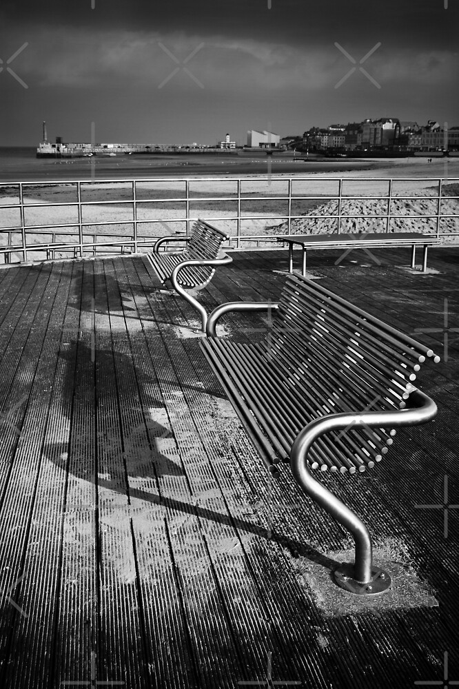 Benches mono by Geoff Carpenter