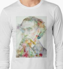 CHARLES DICKENS - watercolor portrait.2 Long Sleeve T-Shirt