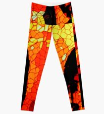 Orange Mix Leggings