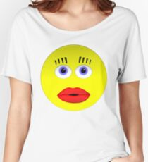 Smiley Female With Big Lips Women's Relaxed Fit T-Shirt