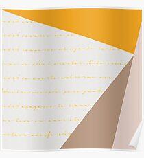 Geometric poetry Poster