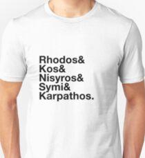 Dodecanese Islands Ampersand Design Unisex T-Shirt