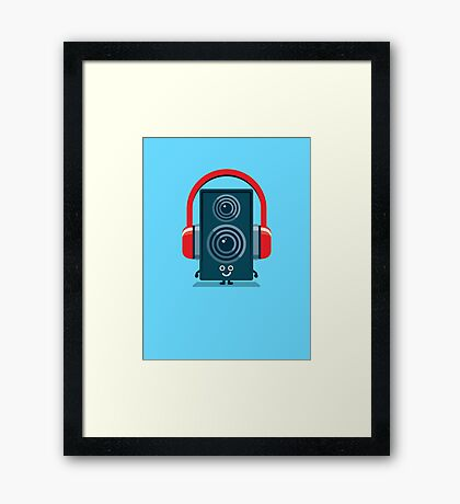 Character Building - Music Fan Framed Print