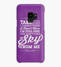 You Can't Take the Sky From Me - Purple Case/Skin for Samsung Galaxy