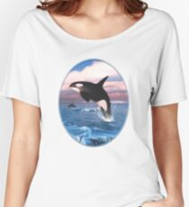 Killer Whales In The Arctic Ocean Women's Relaxed Fit T-Shirt