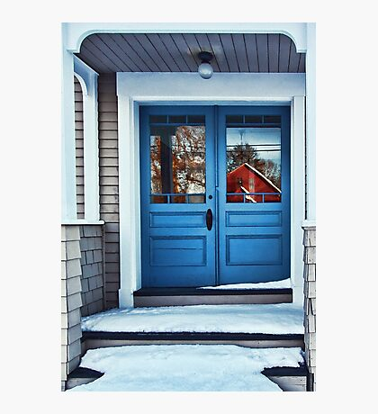 The Blue Doors - Reflections On a Cold Winters Day Photographic Print