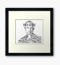 Believe - Steve Jobs Framed Print
