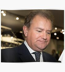 Hugh Bonneville British actor from Downton Abbey  Poster