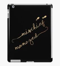 Mischief Managed (black) iPad Case/Skin