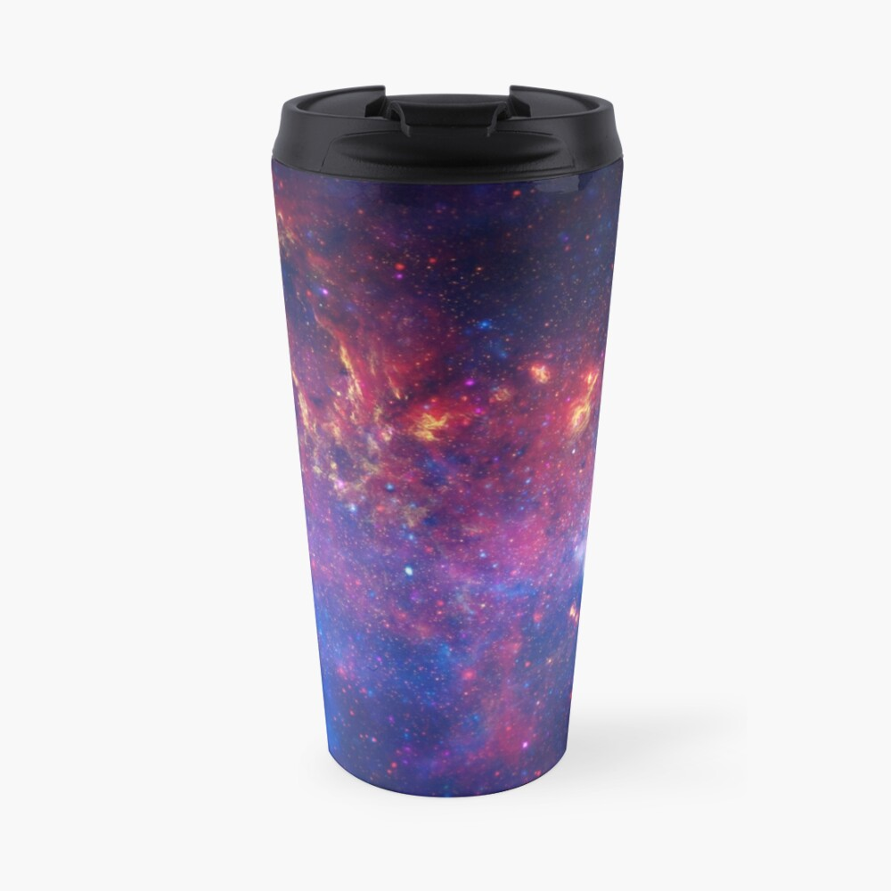 Lila Galaxie Thermobecher