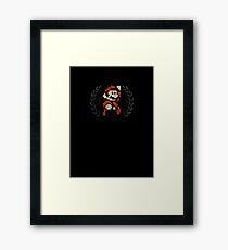 Super Mario - Sprite Badge 4 Framed Print