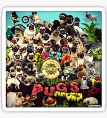 SGT PUGS LONELY HEARTS PUG BAND Sticker