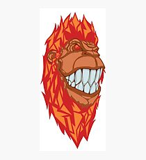 Smiling burning gorilla Photographic Print
