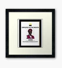 Employee of the month Framed Print