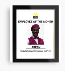 Employee of the month Metal Print