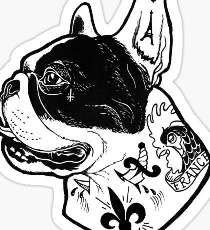 Tattooed French Bulldog Sticker