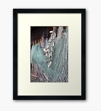fishing net with floats Framed Print