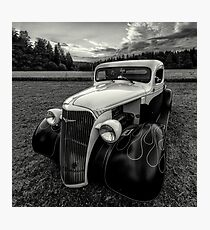 black white rod Photographic Print