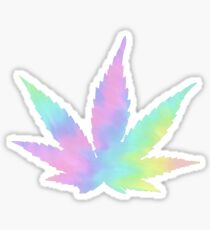 Weed Leaf Trippy Sticker