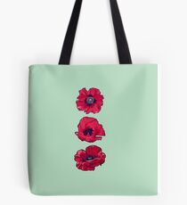 Poppies - August Birth Flower Tote Bag