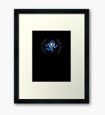 Mega Man - Sprite Badge 2 Framed Print