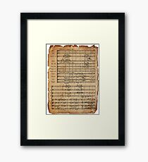 Beethoven's 9th on Antique Paper Framed Print