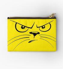 Angry Yellow Kitty Gesicht Studio Clutch