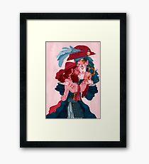 be my valentine - boys Framed Print
