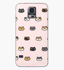 Neko Atsume Kitty Collector Cat Faces Case/Skin for Samsung Galaxy