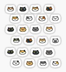 Neko Atsume Kitty Sammler Katze Gesichter Sticker