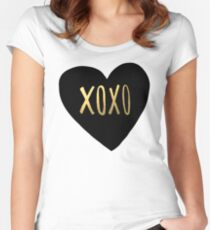 XOXO Women's Fitted Scoop T-Shirt