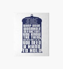 You need a hand to hold - Dr Who Art Board