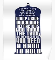 You need a hand to hold - Dr Who Poster