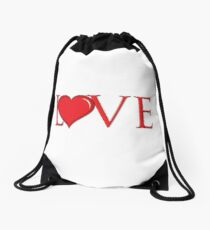 Heart Love Drawstring Bag