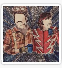 Mighty Boosh Watercolour Sticker