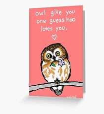 Owl Give You One Guess Greeting Card