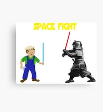 Space Fight Battle Scene Canvas Print