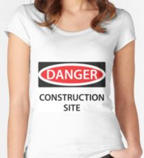 Danger - Construction Site! Women's Fitted Scoop T-Shirt